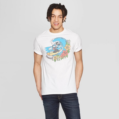 92f241a810 Men's Mickey Mouse Short Sleeve Crewneck Graphic T-Shirt - Awake White