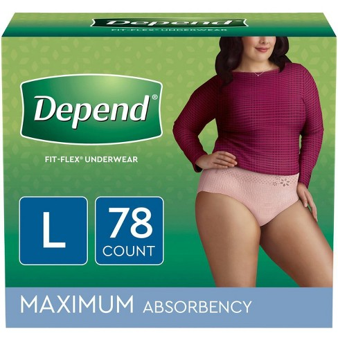 Depend Women's Underwear Max Absorbency - Large - 78ct - image 1 of 2