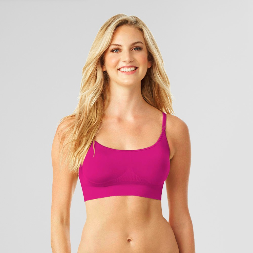 Simply Perfect by Warner's Women's No Dig Seamless Wireless Bra - Pink Glow M
