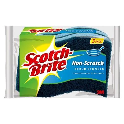 Scotch-Brite No Scratch Scrub Sponges 3-pk.
