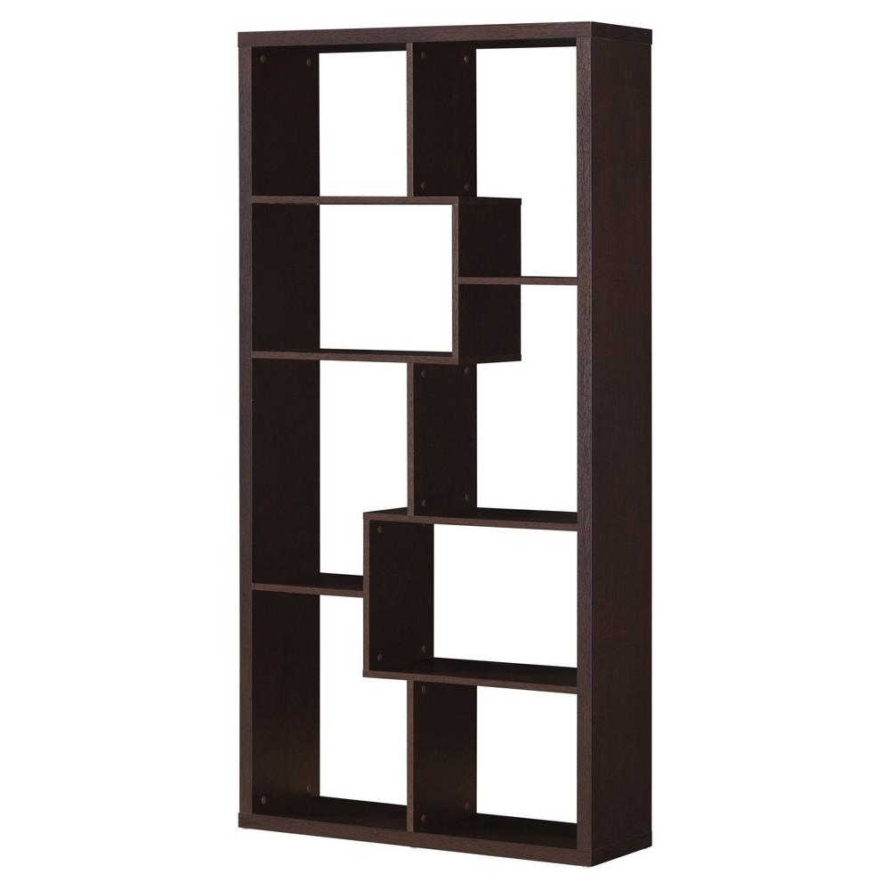 Decorative Bookshelf 71 Cappuccino - Acme Furniture