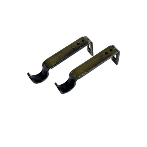 Set of 2 Drapery Rod Brackets Antique Brass - Versailles Home Fashions - image 1 of 3