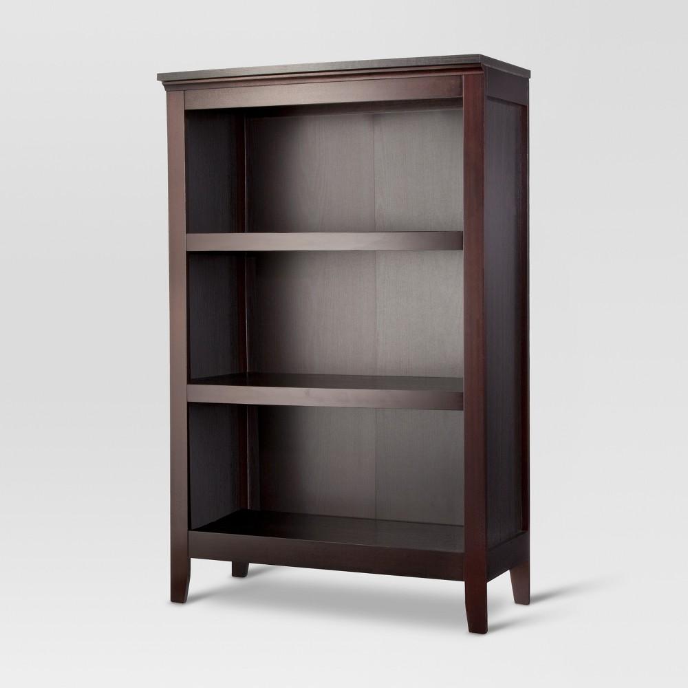 Carson 48 3 Shelf Bookcase Espresso Threshold 8482