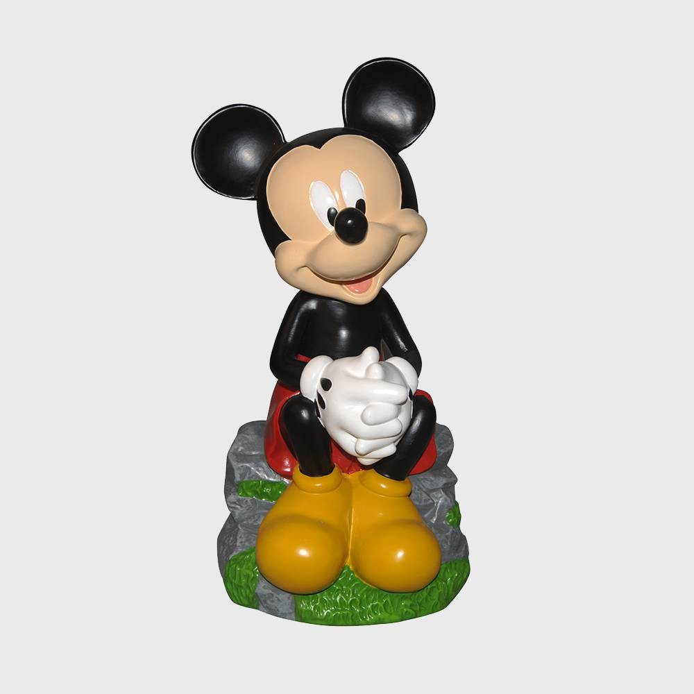 Disney 12 Mickey Mouse Sitting Resin Statue, Multi-Colored
