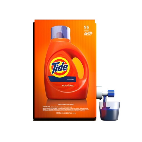 Tide Liquid Laundry Detergent Eco-Box, Original Scent, 105 fl oz, 96 loads - image 1 of 6