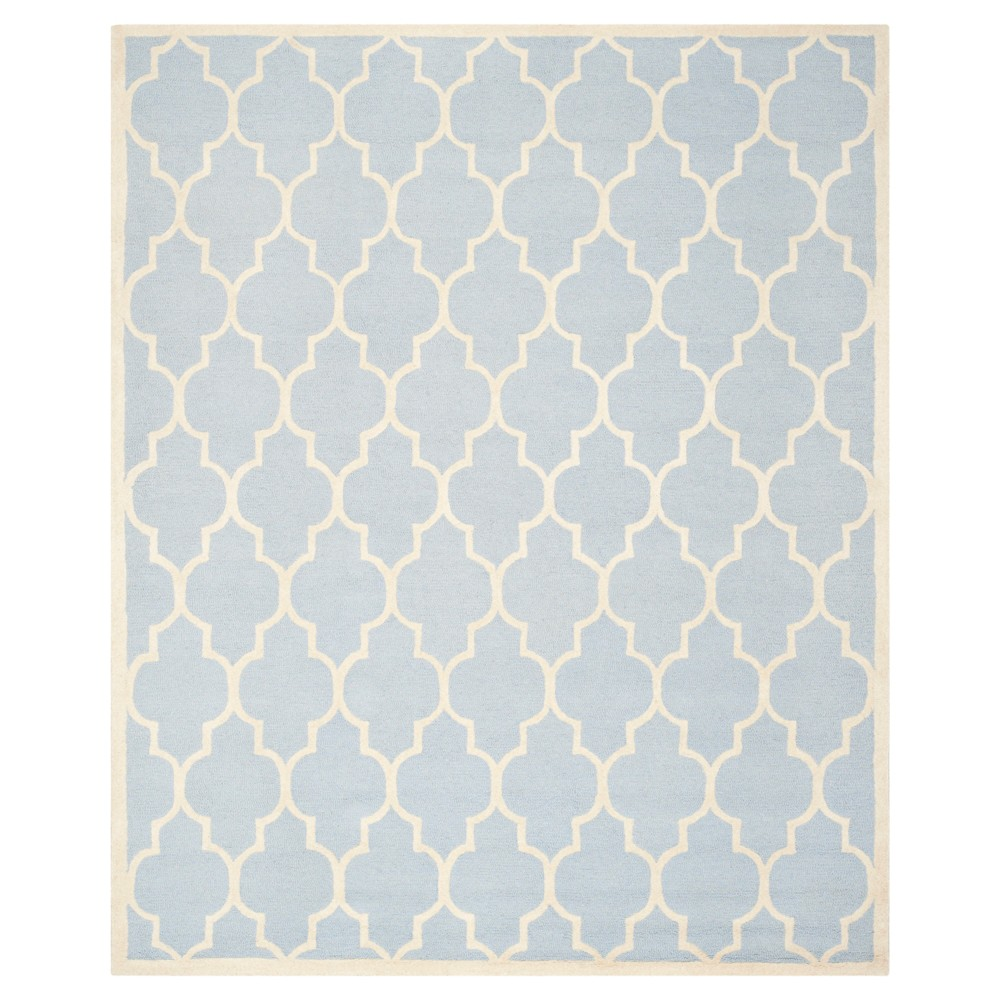6'X9' Geometric Area Rug Light Blue/Ivory - Safavieh