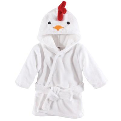 Hudson Baby Infant Plush Animal Face Bathrobe, Chicken, 0-9 Months