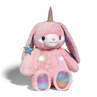 "FAO Schwarz LED Toy Plush with Sound - 15"" Pink Bunnycorn"