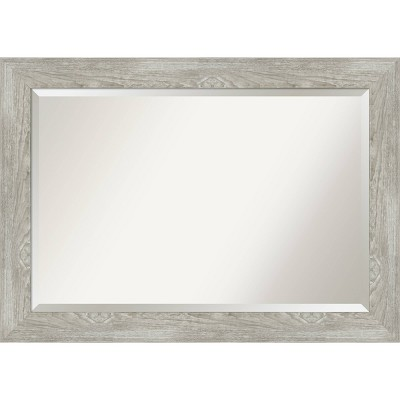 "42"" x 30"" Dove Graywash Framed Bathroom Vanity Wall Mirror - Amanti Art"
