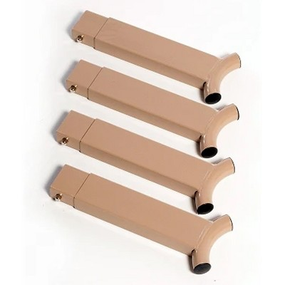 Disc-O-Bed 45001 Camping Cot Bed Metal Steel Height Extension Stack Adapter Kit for Disc-O-Bed Camp Bed Frames, Beige