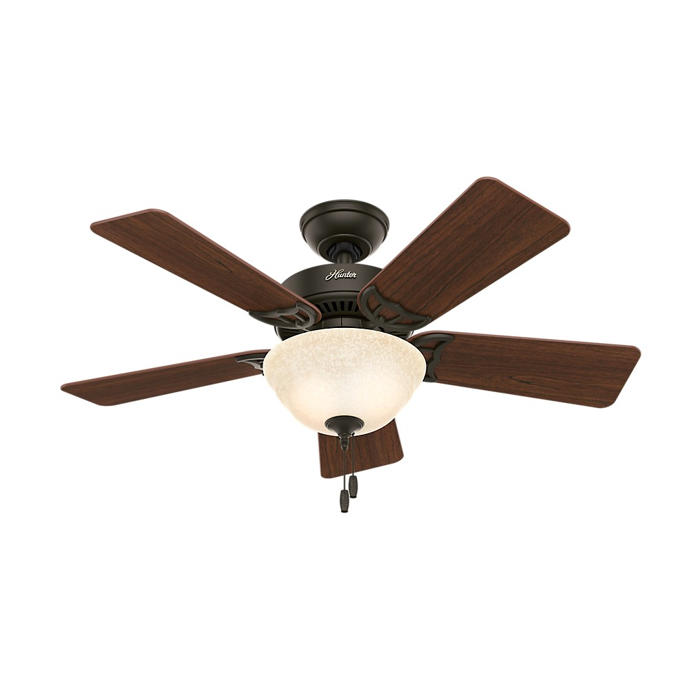 42 Kensington Lighted Ceiling Fan Bronze - Hunter Fan