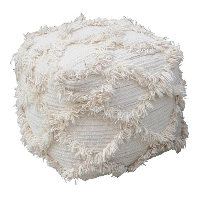 Jucar Pouf Ivory - Christopher Knight Home