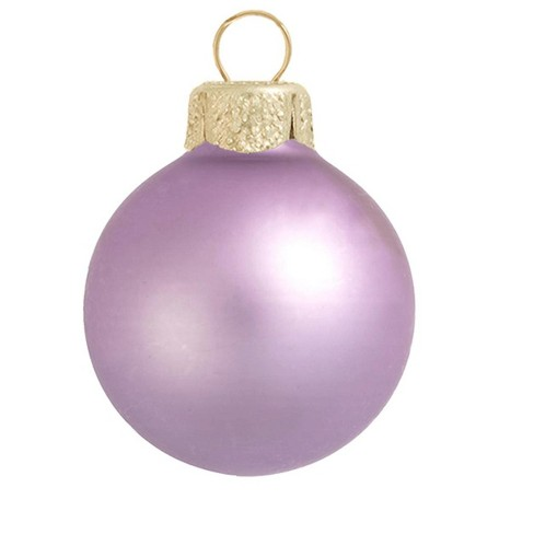 "Northlight 40ct Matte Glass Ball Christmas Ornament Set 1.25"" - Soft Lavender Purple - image 1 of 1"