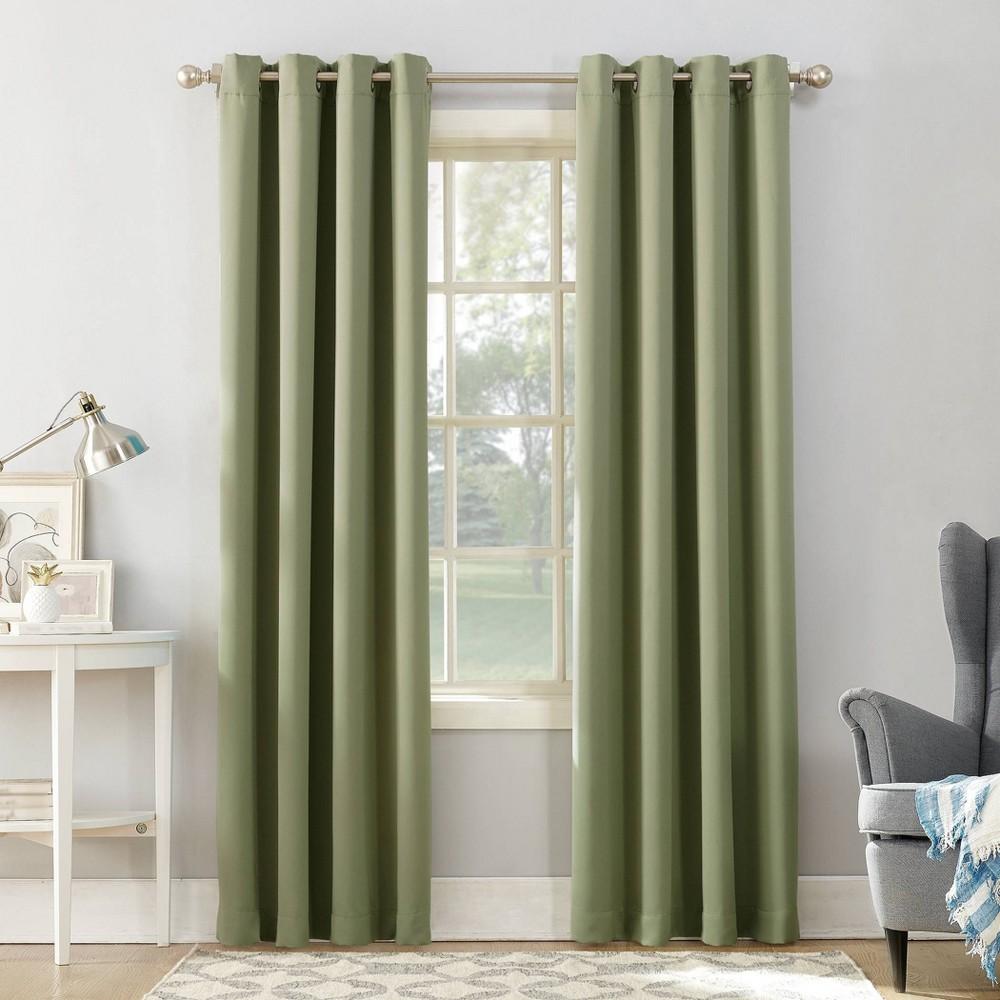 95 34 X54 34 Kenneth Energy Saving Blackout Grommet Top Curtain Panel Green Sun Zero