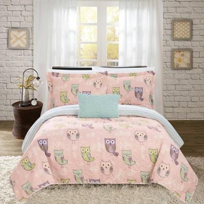 3pc Twin Strix Quilt Set Pink - Chic Home Design