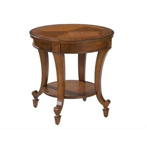 Beaumont Lane Chairside Table in Cherry Finish