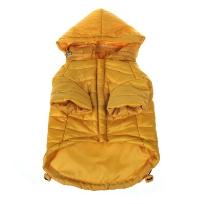 Pet Life Lightweight Adjustable 'Sporty Avalanche' Dog and Cat Coat - Yellow
