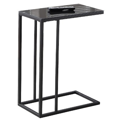 Accent Table with Mirror Top - Black - EveryRoom
