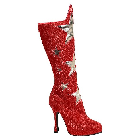 Women's Red Superhero Star Costume Boots - image 1 of 1