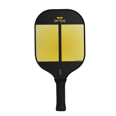 MD Sports Orca Amity Carbon Fiber Pickleball Paddle with Neoprene Cover - Yellow/Black