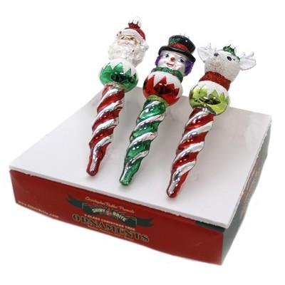 "Shiny Brite 6.5"" Hs Figure Icicles Holiday Splendor Ornaments  -  Tree Ornaments"