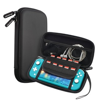Insten Carry Case For Nintendo Switch Lite - Portable Hard Shell Travel Pouch For Console & Accessories, Black : Target