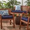 Set of 2 Outdoor Chair Cushion - Navy - Kensington Garden - image 3 of 3