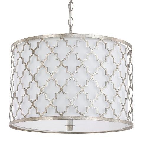 "Capital Lighting 4545-582 Ellis Convertible 3 Light 18-1/4"" Wide Drum Chandelier / Semi-Flush Ceiling Fixture - image 1 of 1"