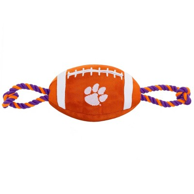 NCAA Clemson Tigers Nylon Football Dog Toy