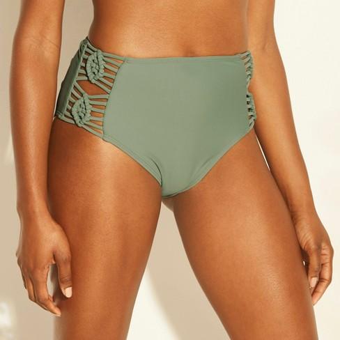 544db479222af Women's Macrame Inset High Waist Bikini Bottom - Xhilaration™ : Target