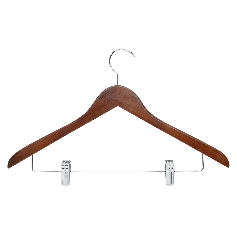 Image of Basic Suit Hanger with Clips - Cherry (12pk)