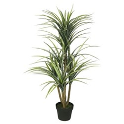 Artificial Plastic Green Yucca with Pot (40in) Green - Vickerman®