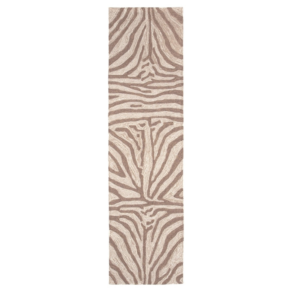 Brown Abstract Tufted Runner - (2'x8') - Liora Manne