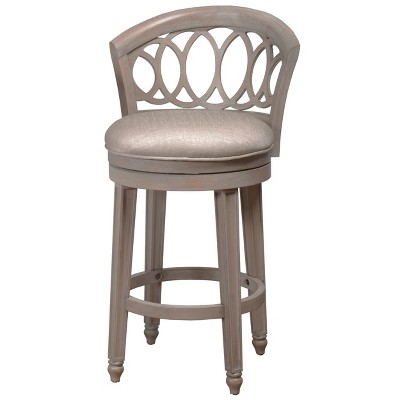 "Adelyn Swivel 39"" Counter Height Barstool Gold Metallic Silver - Hillsdale Furniture"