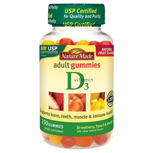 Nature Made Vitamin D3 Gummies - Strawberry, Peach & Mango - image 1 of 2