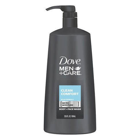 Dove Men+Care Clean Comfort Body Wash + Face Wash Pump 23.5 oz - image 1 of 5