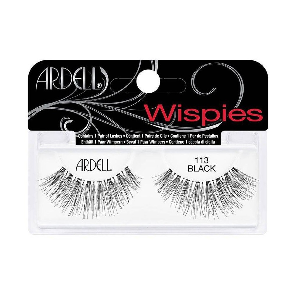 Image of Ardell Eyelash 113 Wispies Black - 1pr