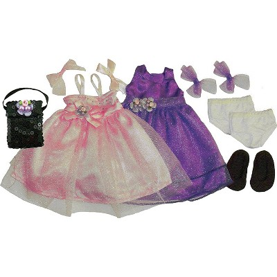 Kids Doll Clothes - 2 Princess Dresses and Accessories - 1322