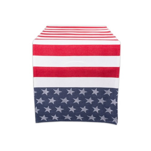 """54""""x14"""" Stars & Stripes Table Runner Blue/Red - Design Imports - image 1 of 4"""