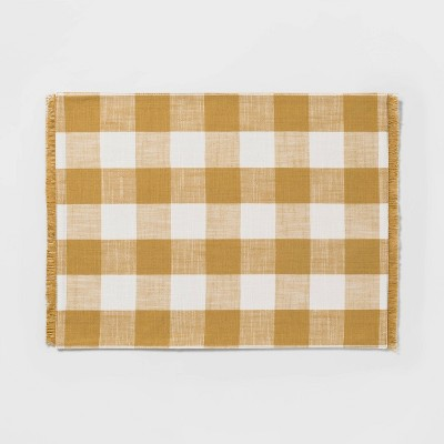 Checkeded Placemat Yellow - Threshold™