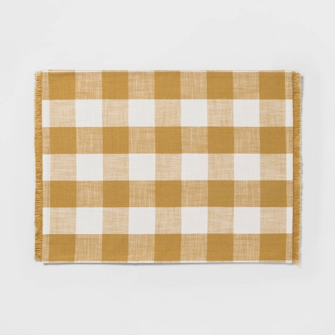Check Placemat Yellow - Threshold™ - image 1 of 1