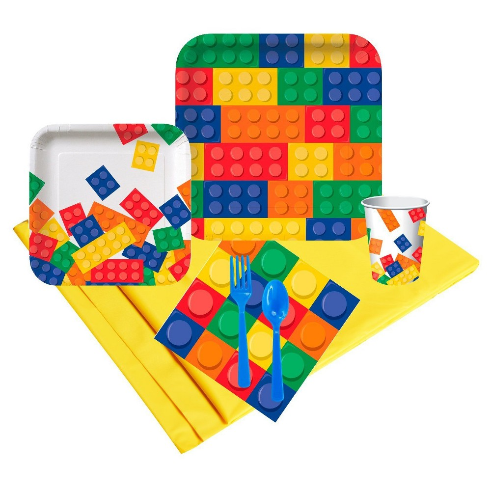 Building Block Party 24 Guest Party Pk, Multicolored
