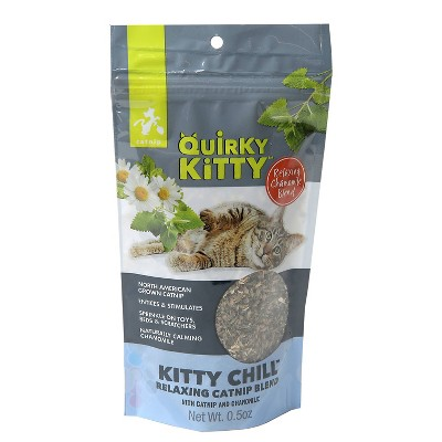 Quirky Kitty Kitty Chill North American Catnip with Chamomile Blend Cat Treats - 0.5oz
