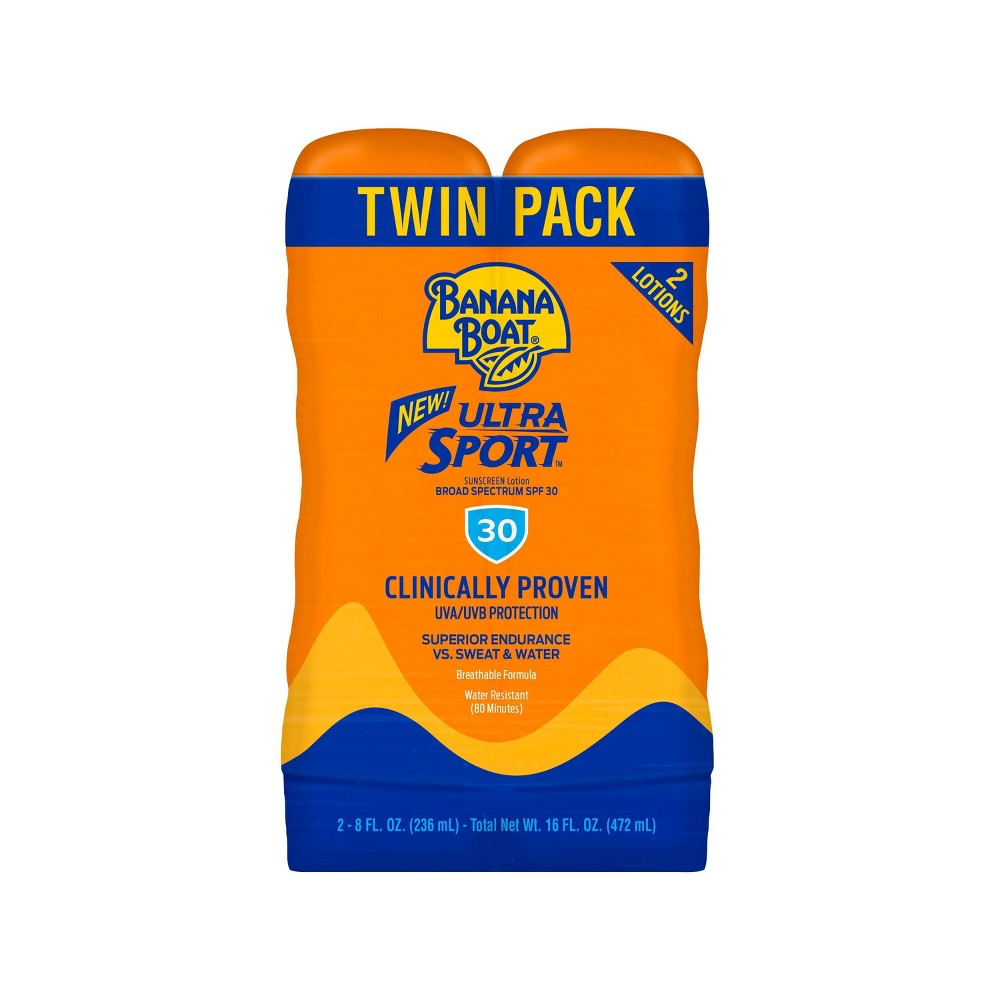 Image of Banana Boat Sport Sunscreen Lotion Twinpack - SPF 30 - 16oz