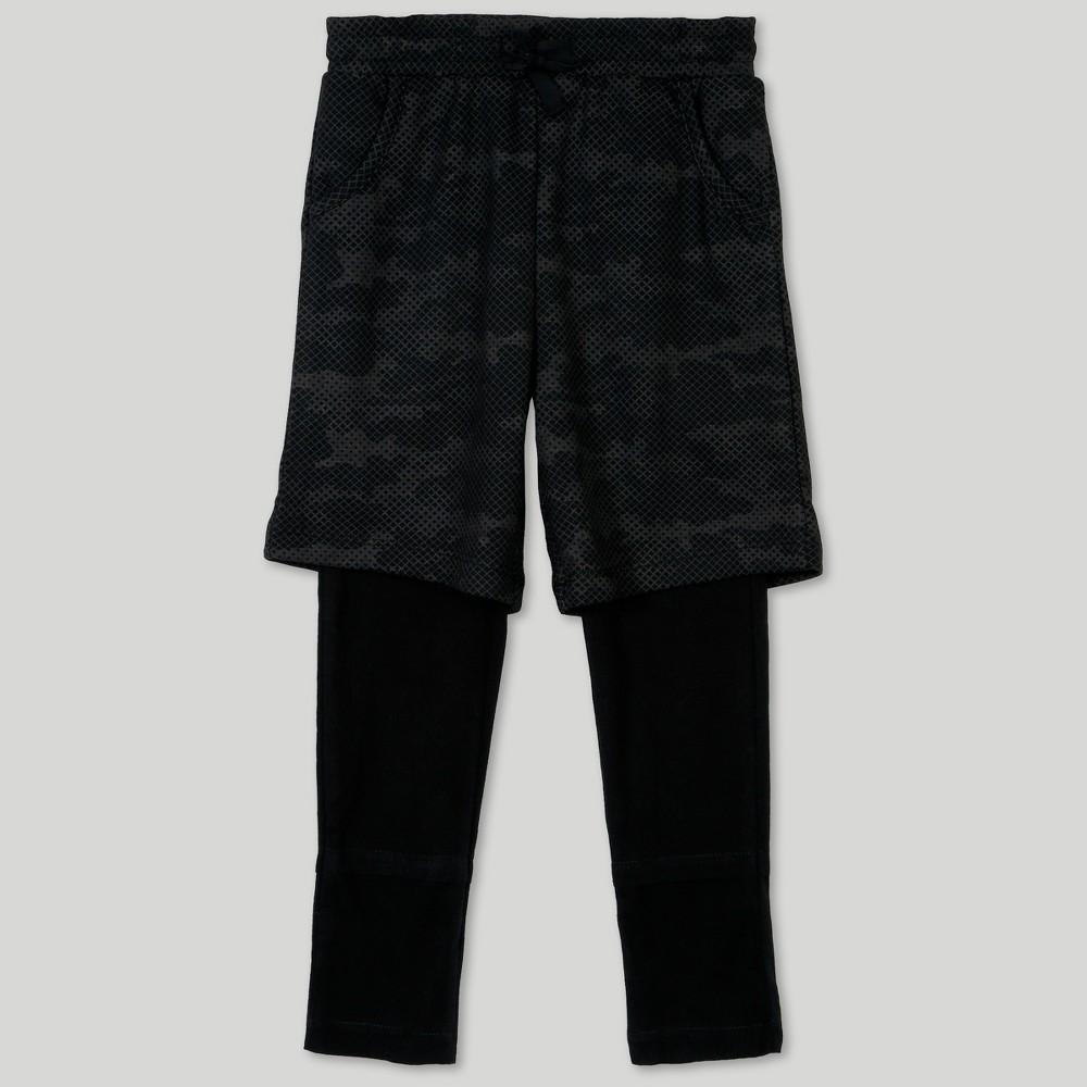 Afton Street Toddler Boys' 2pc Layering Pants - Black 18M thumbnail