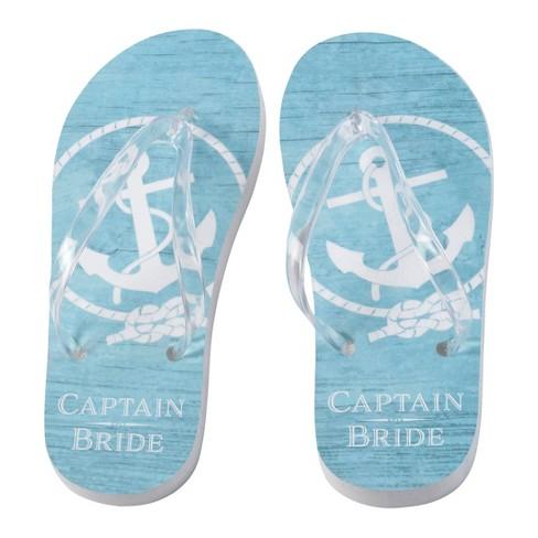 55f73b455ab4c Bride s Captain Flip Flops - Large   Target