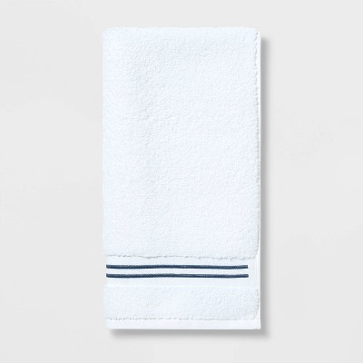 Spa Hand Towel Dark Blue Stripe - Threshold Signature™
