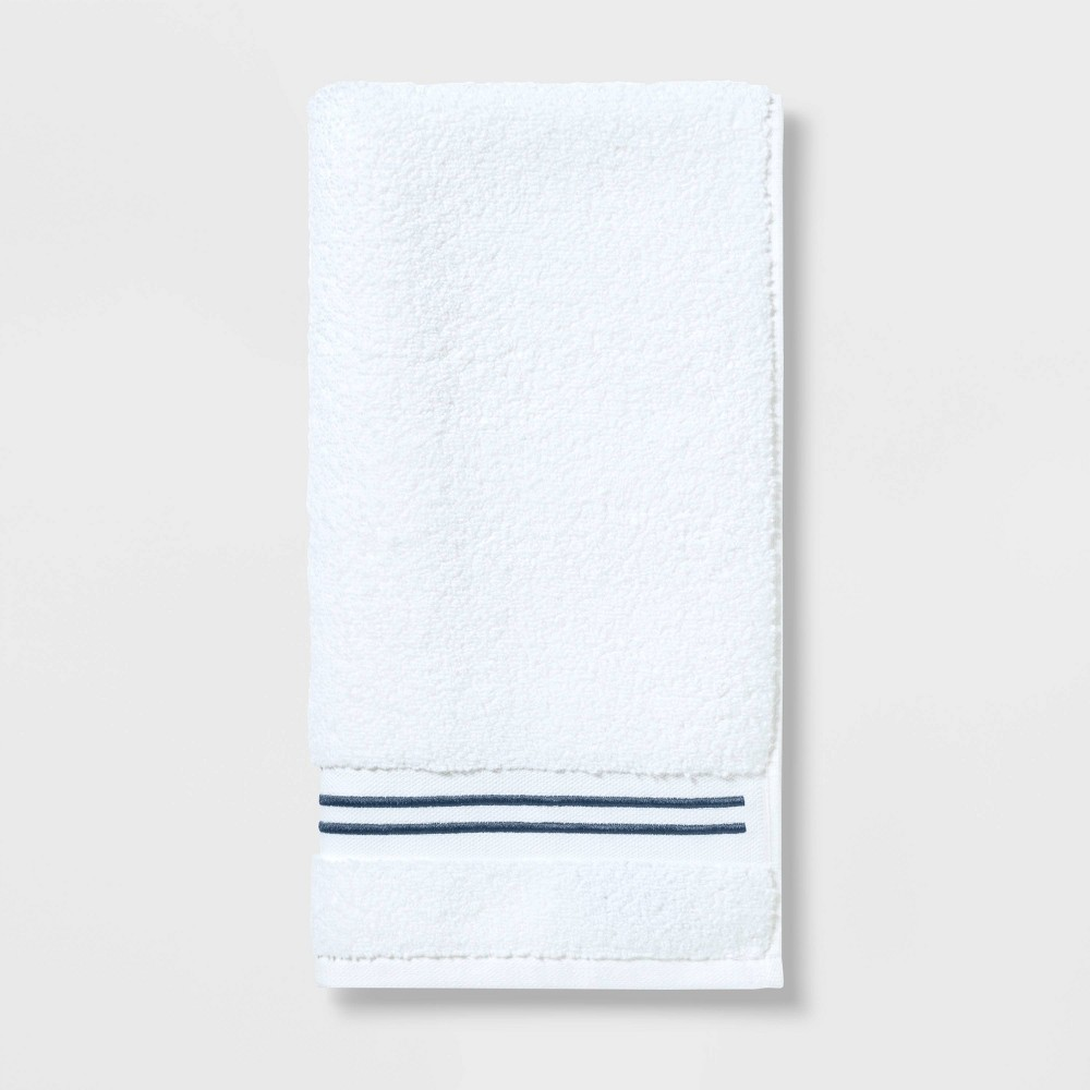 Spa Hand Towel Dark Blue Stripe - Threshold Signature Promos