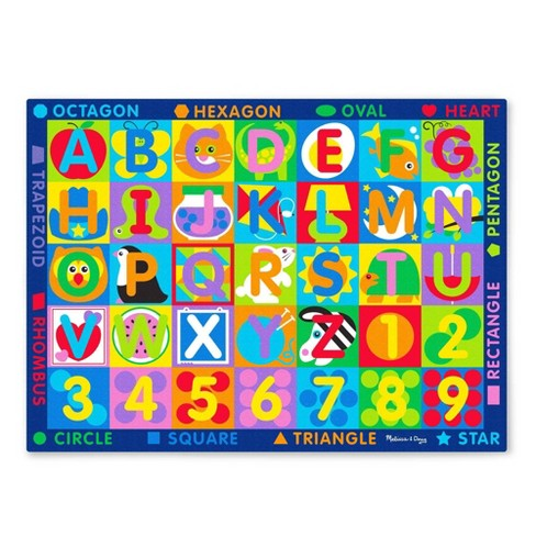 Melissa & Doug Jumbo ABC-123 Rug - image 1 of 4