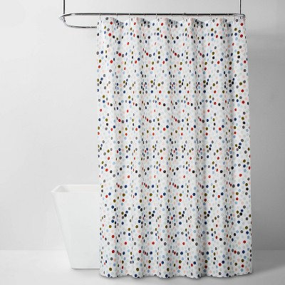 Microfiber All Over Polka Dot Shower Curtain - Room Essentials™